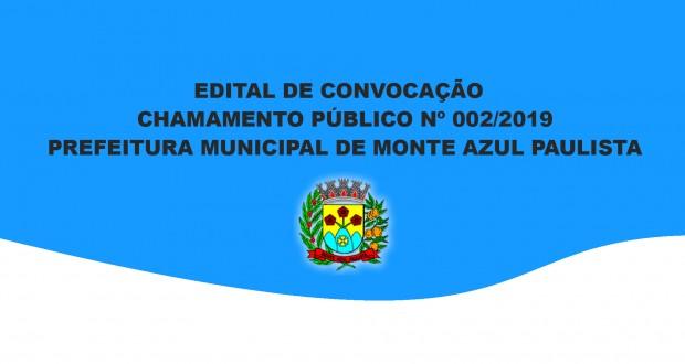 CHAMAMENTO PÚBLICO Nº 002/2019