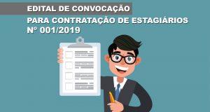 CHAMAMENTO PÚBLICO Nº 001/2019 – EDITAL DE CONVOCAÇÃO